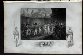 Tallis (Pub) 1853 Military Print. Surrender Two Sons of Tippoo Sultan, India